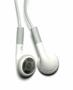 SLEEK WHITE STEREO EARPHONES for smartphones and tablets