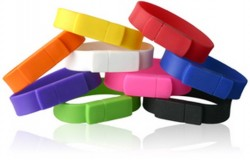 Multicoloured Silicone Band USB Flash Drive (personal use and promotional gift item)