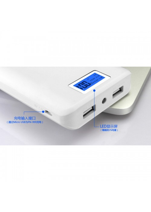 Original Slim Design Dual Charger Powerbank + Torchlight and Digital LCD Display 15000mah