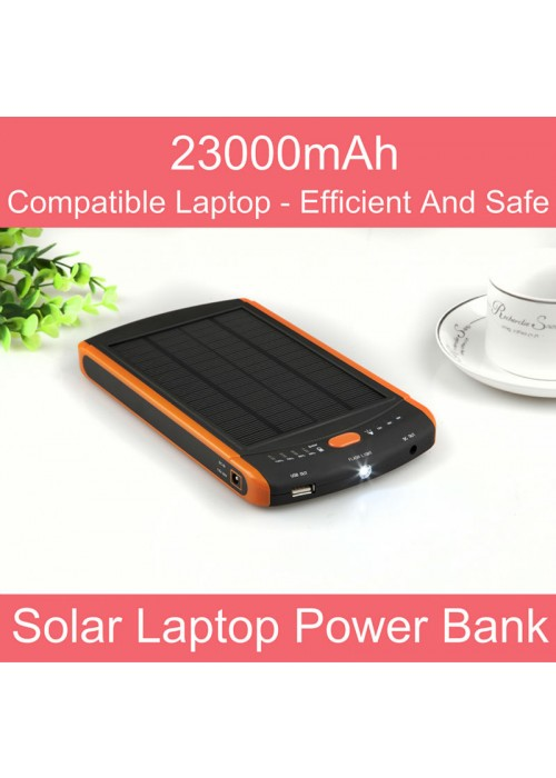 2-in-1 Universal Solar + laptop powerbank 2300mah
