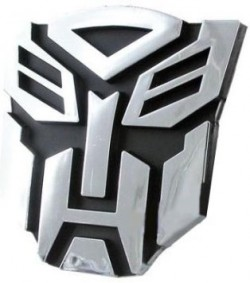 Transformers 3D Chrome Badge For Cars and House Doors