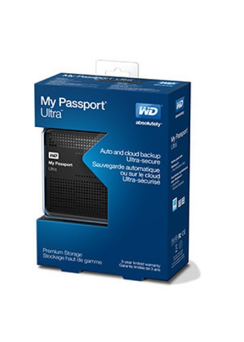 Western Digital My Passport Ultra 1TB Portable External Hard Drive USB 3.0 with Auto and Cloud Backup - Black